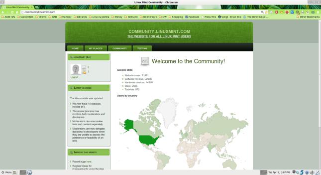 Linux Mint Community - Chromium_025