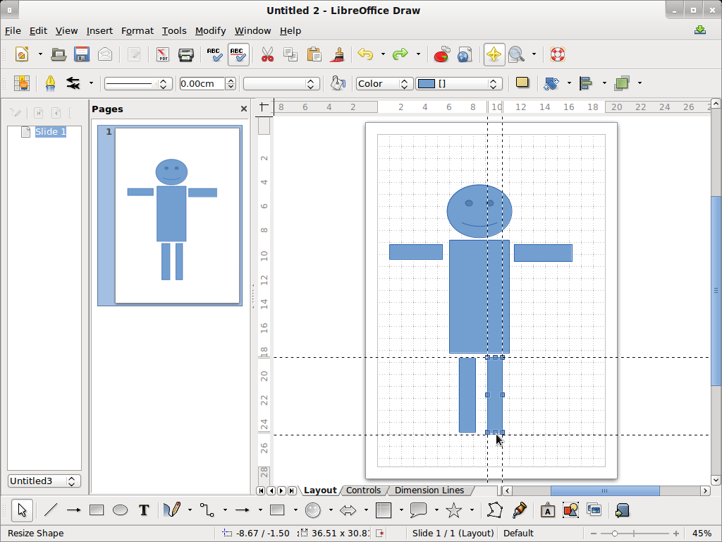 Open Office Drawing Lines : Libreoffice draw the other linux mint